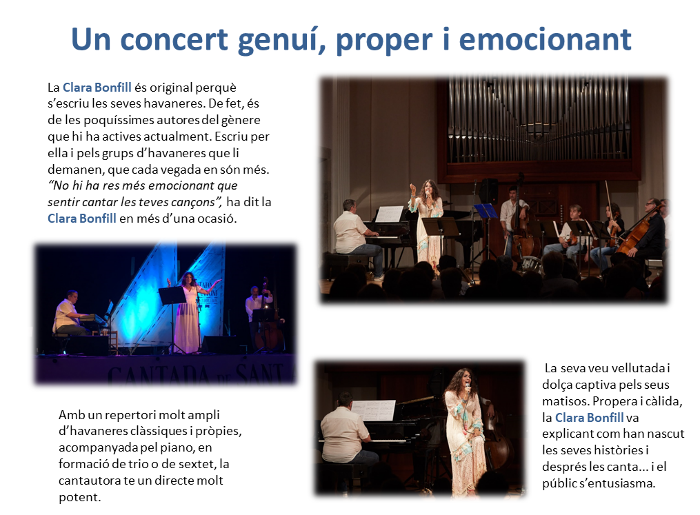 Clara Bonfill concert proper i emocionant
