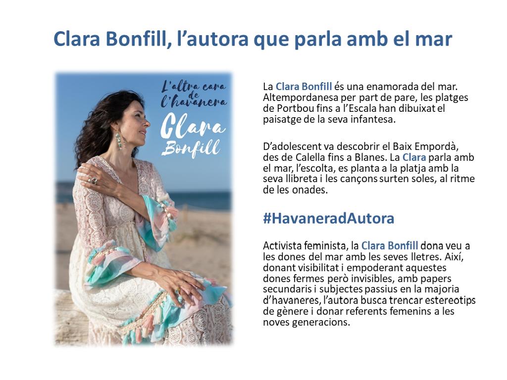 Clara Bonfill, l'autora que parla amb el mar