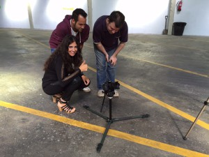 Clara, Saiko i Javier gravació Respira
