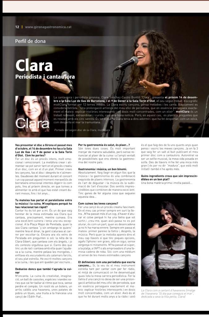 perfil de dona Clara moltClara Revista Girona Gastronòmica gener 2016