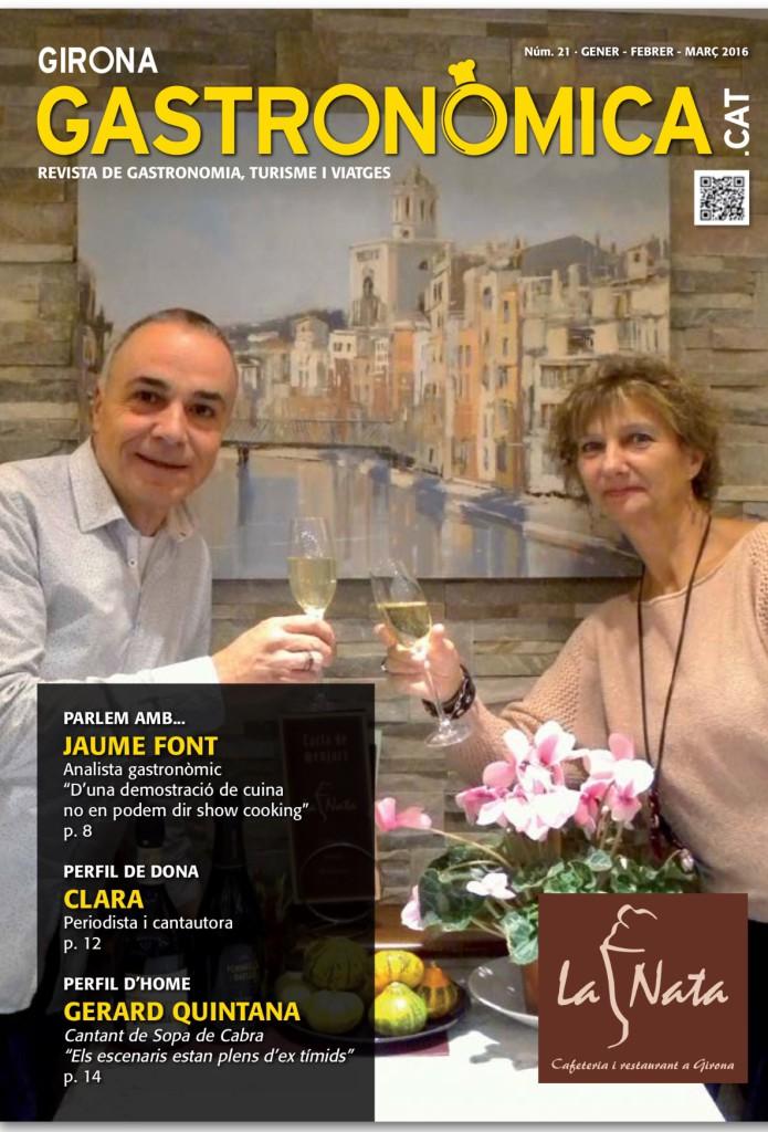 portada revista Girona Gastronòmica gener 2016